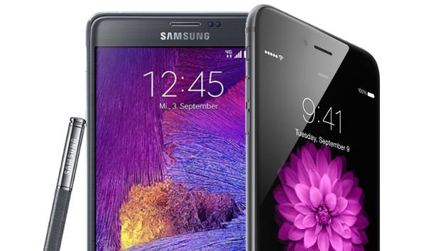 Galaxy Note Edge vs iPhone 6 Plus
