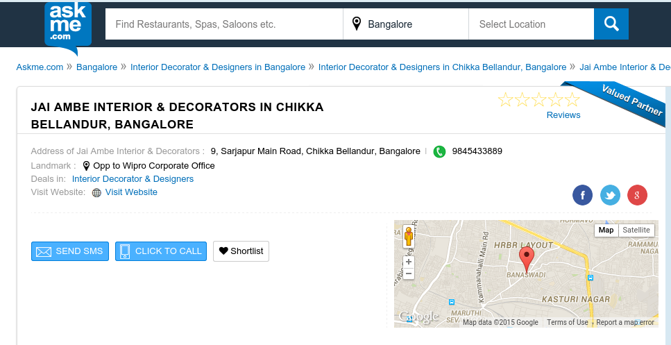 Askme local search result