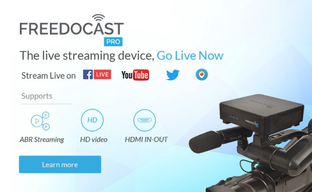 Go Live Using Freedocast Pro - The Live Streaming Device