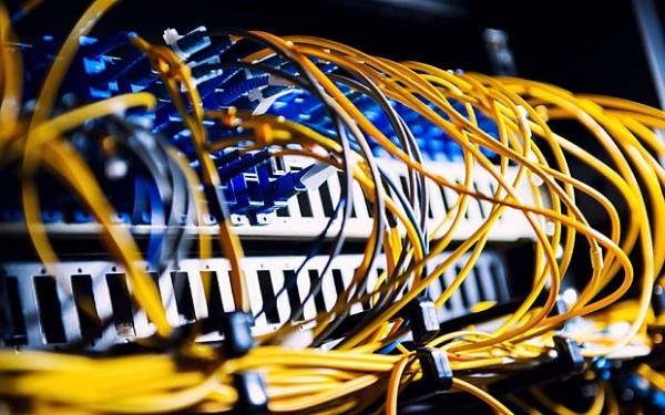 Fiber-optic equipment in a data center
