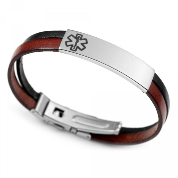 Italian-Leather-Medical-Alert-Bracelet-Oneida