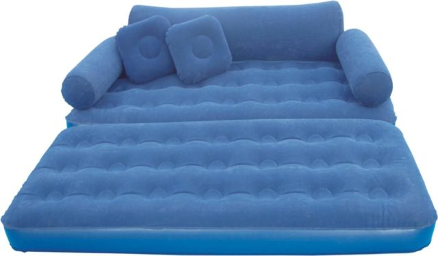 Camping Fun With Inflatable Mattress