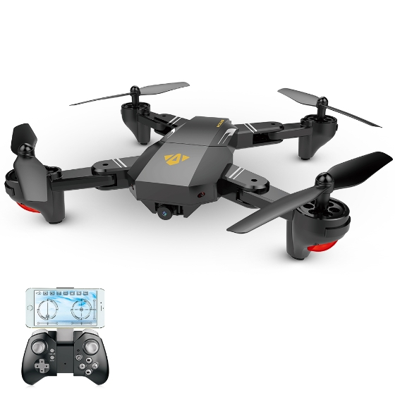VISUO XS809W 2.4G Foldable Quadcopter Design, Features Evaluation with Coupon